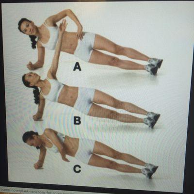 Plank arm rotation