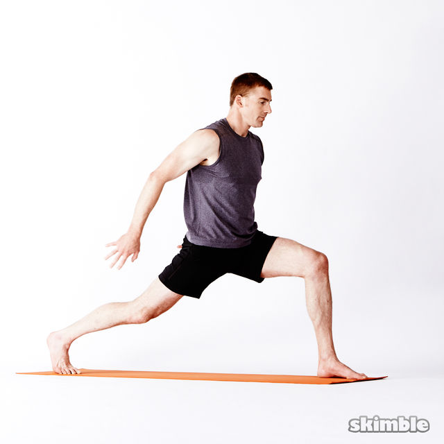 How to do: Left High Lunge with Clasped Hands - Step 1