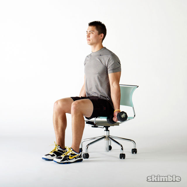 How to do: Seated Bicep Curls - Step 1