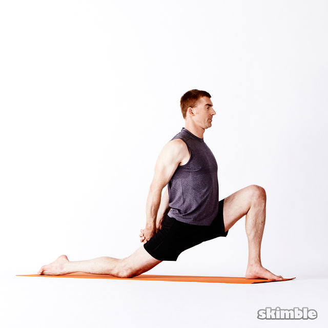 How to do: Left Low Lunge with Clasped Hands - Step 3