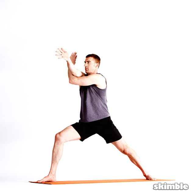 How to do: Right Warrior 1 with Eagle Arms - Step 5