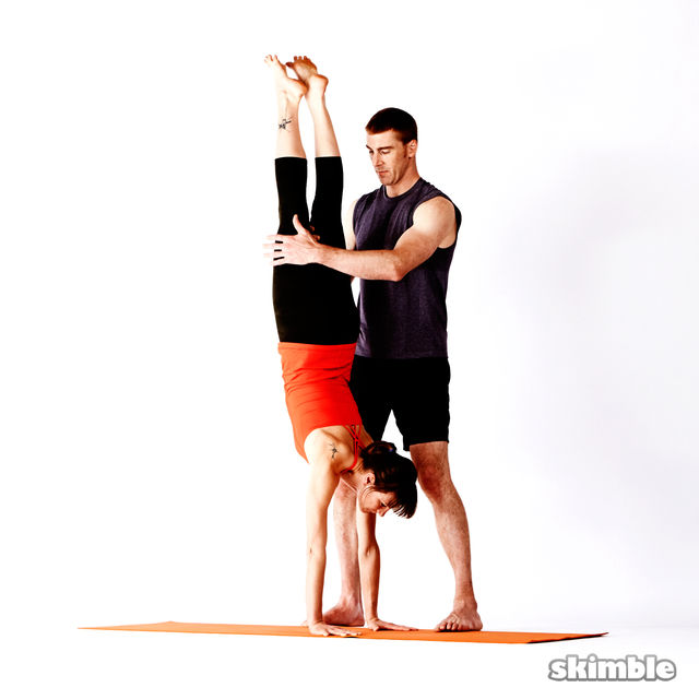 How to do: Assisted Handstand - Step 4