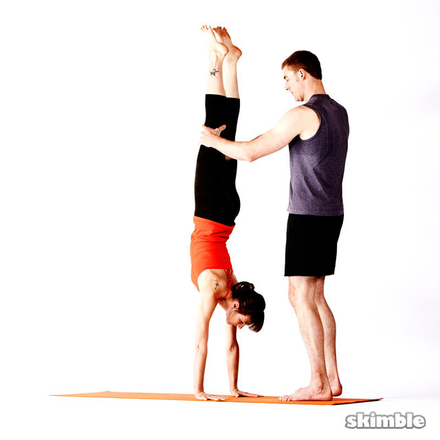 How to do: Assisted Handstand - Step 5