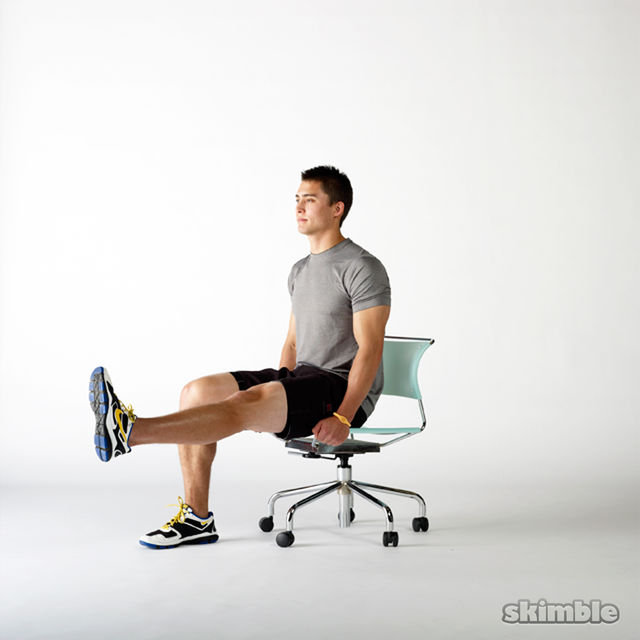 How to do: Seated Hip Flexor Lifts - Step 2