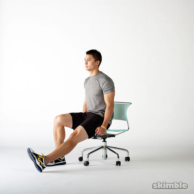 How to do: Seated Hip Flexor Lifts - Step 1