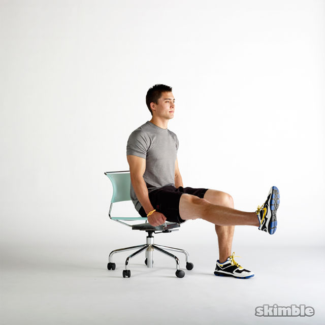 How to do: Seated Hip Flexor Lifts - Step 4