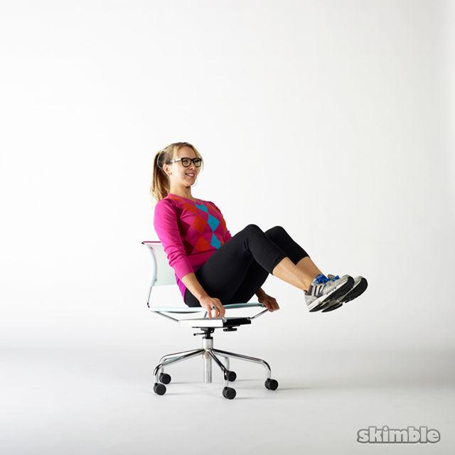 How to do: Seated Knee Tucks - Step 2