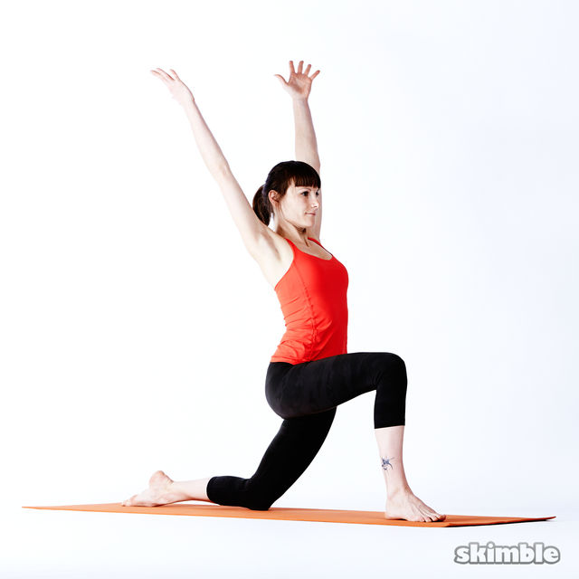 How to do: Right Low Lunge Sidebend - Step 4