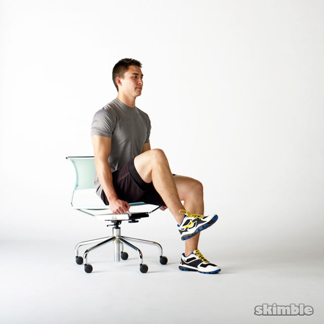 How to do: Seated Knee Raises - Step 2