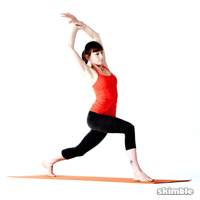 How to do: Right High Lunge Sidebend - Step 4