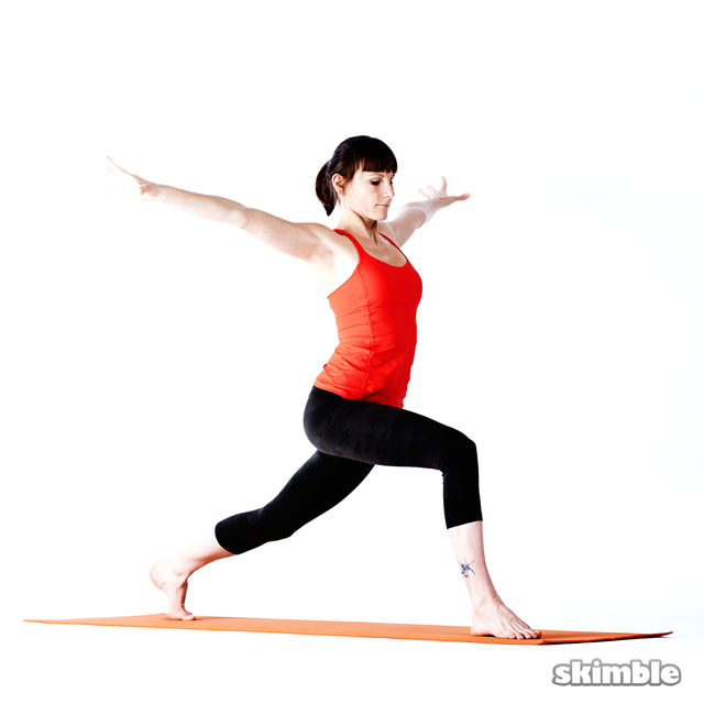 How to do: Right High Lunge Sidebend - Step 5