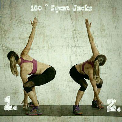 180 Degree Jumping Squat Jacks