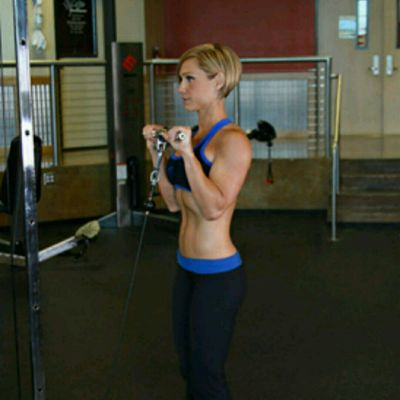 Reverse Grip Cable Bicep Curl