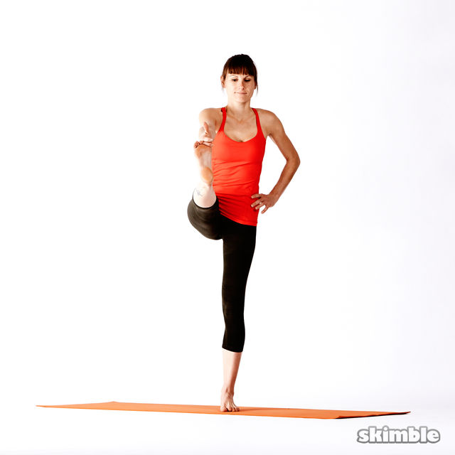 How to do: Right Extended Hand-To-Big-Toe Sequence - Step 3