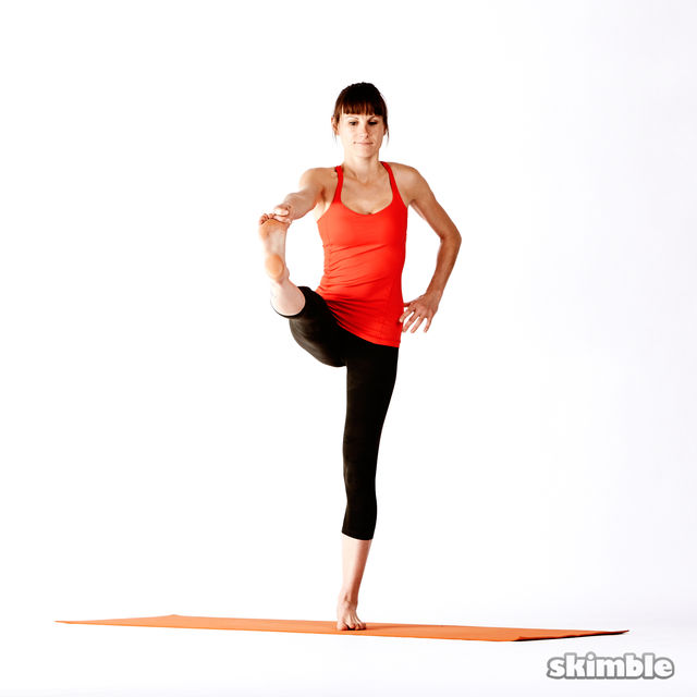 How to do: Right Extended Hand-To-Big-Toe Sequence - Step 4