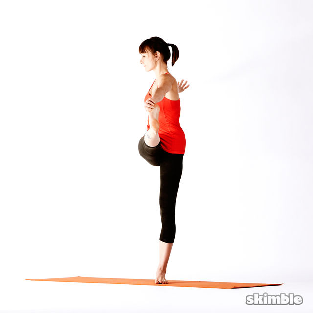 How to do: Right Extended Hand-To-Big-Toe Sequence - Step 9