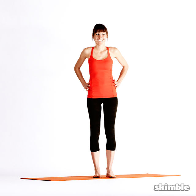 How to do: Left Extended Hand-To-Big-Toe Sequence - Step 1
