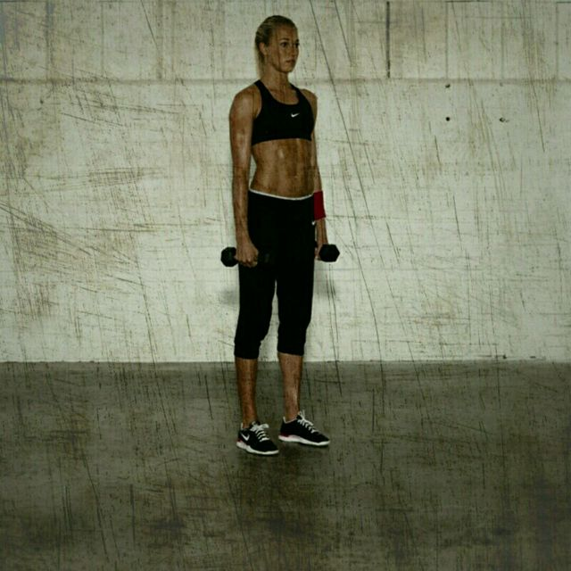 How to do: Dumbell Lateral Lunges - Step 1