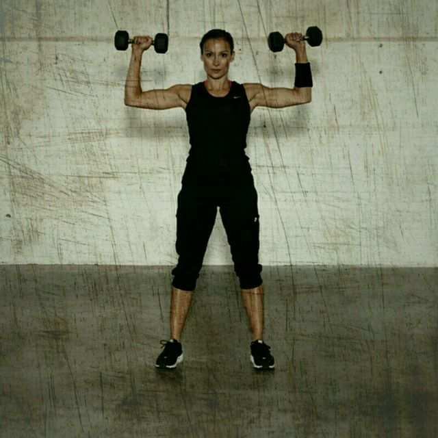 How to do: Dumbbell Shoulder Press - Step 2