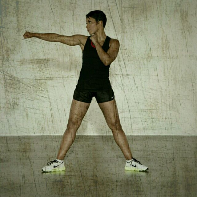 How to do: Sumo Squat Jabs - Step 1
