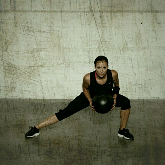 How to do: Side Lunge Rotation - Step 2