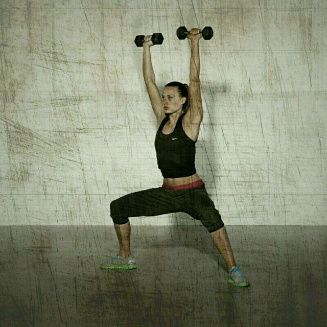 How to do: Sumo Squat Shoulder Press - Step 2