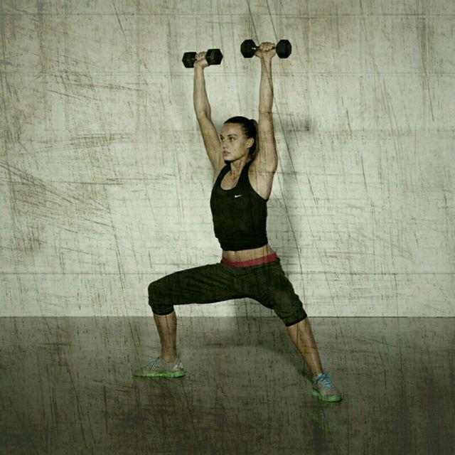 How to do: Sumo Squat Shoulder Press - Step 4