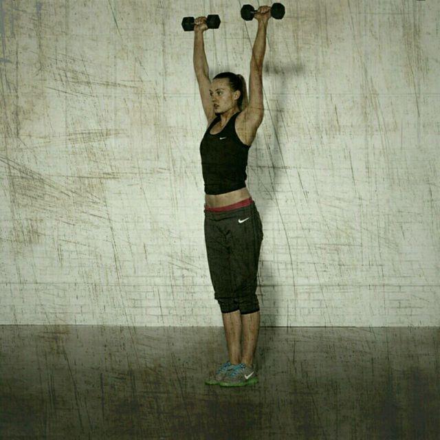 How to do: High Plank Row Shoulder Press - Step 5