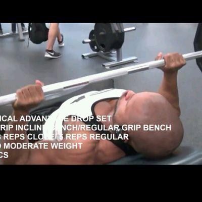Incline Bench Press Regular Grip