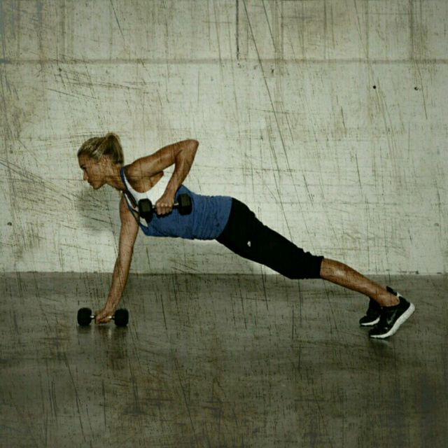 How to do: High Plank Row T-Rotation - Step 2