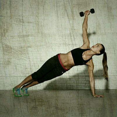 Plank Front Raise Rotations