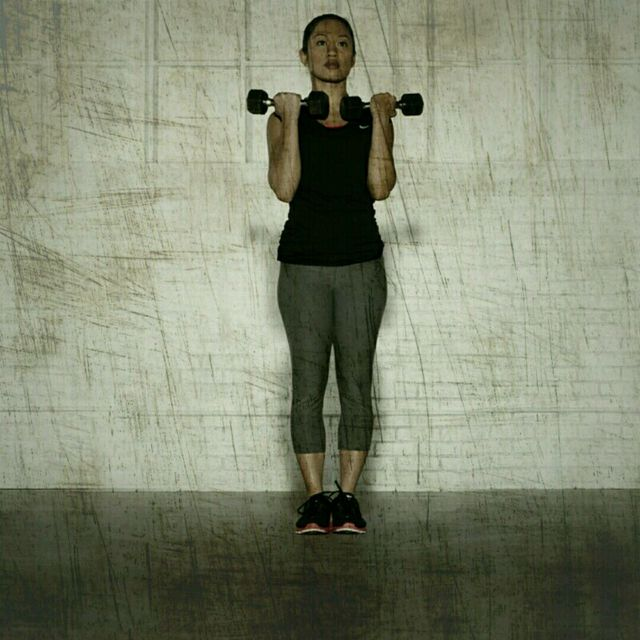 How to do: Lateral Lunge Curls - Step 2