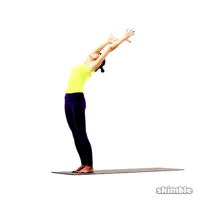 Standing Crescent Moon Pose