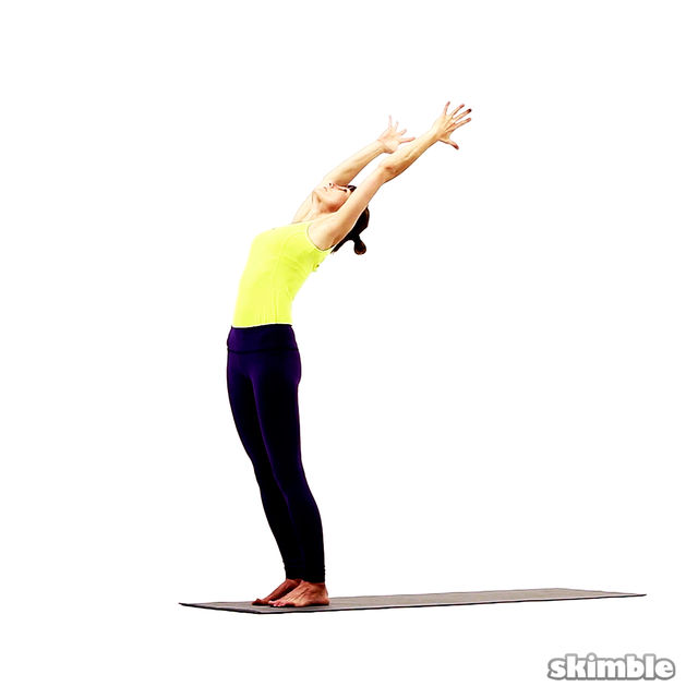 How to do: Standing Crescent Moon Pose - Step 2