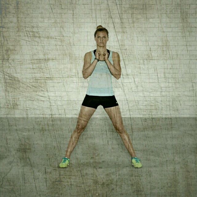 How to do: Bodyweight Lateral Squats - Step 1