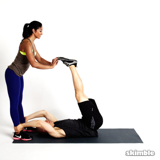 How to do: Partner Leg Lifts - Step 1
