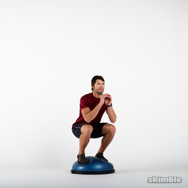 How to do: BOSU Squats - Step 3