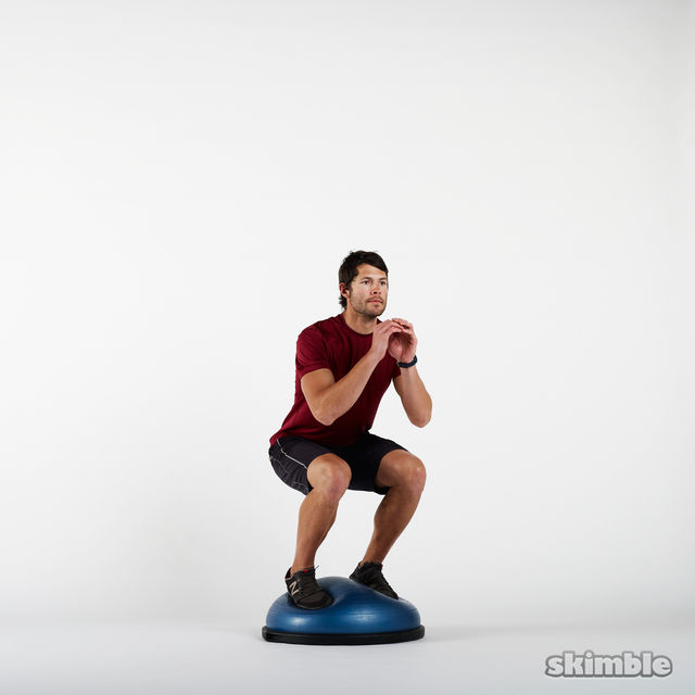 How to do: BOSU Squats - Step 2