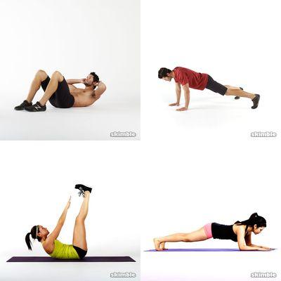 träningar för magen