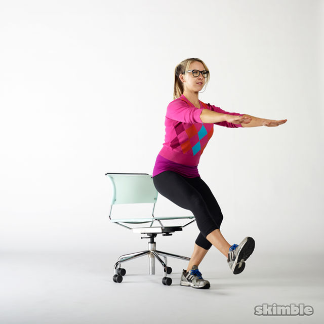 How to do: Seated Single Leg Stand Ups - Step 2