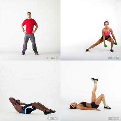 addome e gambe