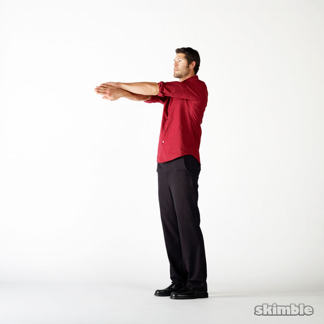 How to do: Upper Back Swimmer Stretches - Step 3