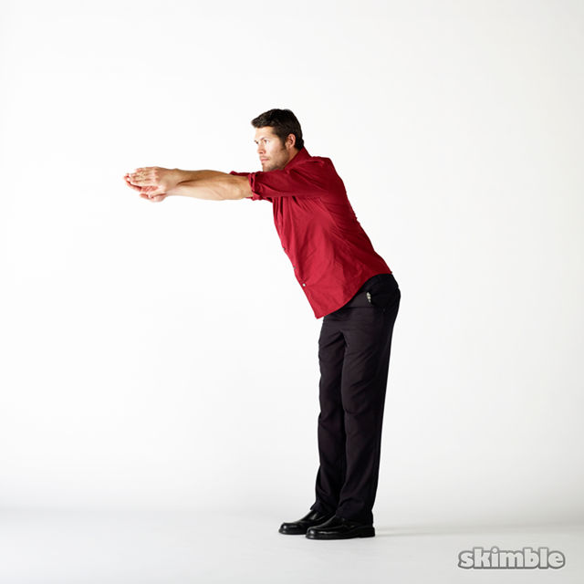 How to do: Upper Back Swimmer Stretches - Step 2