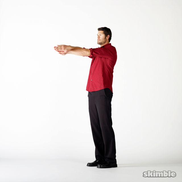 How to do: Upper Back Swimmer Stretches - Step 1