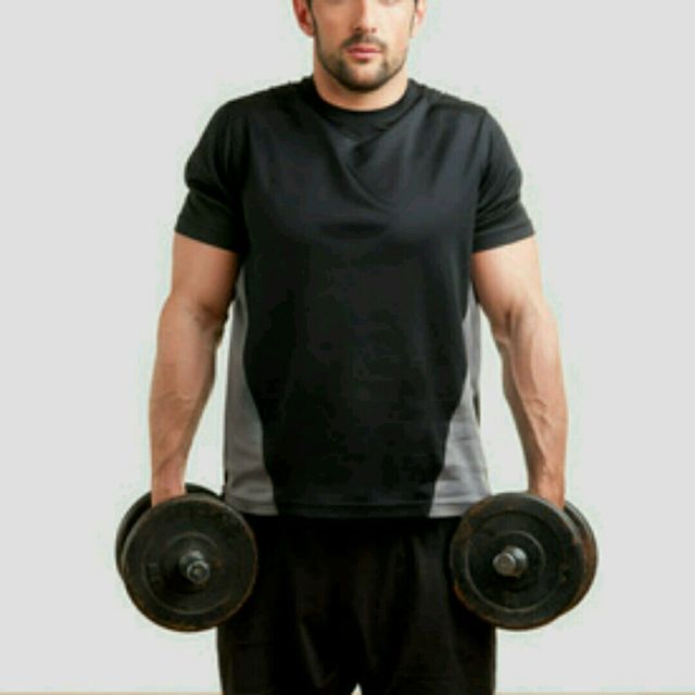 How to do: Dumbell Shrug - Step 2