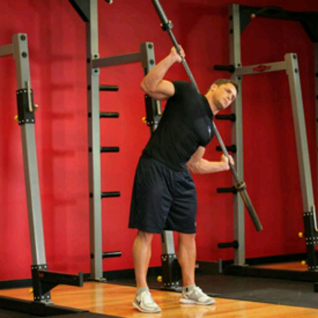 How to do: Barbell Side Bend - Step 1
