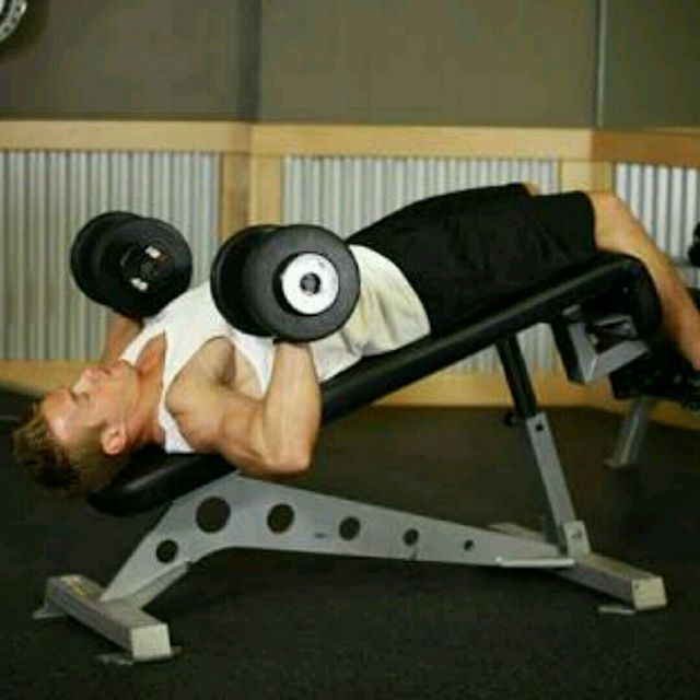How to do: Dumbell Decline Bench Press - Step 1
