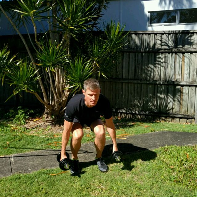 How to do: Squat Curl Press - Step 1