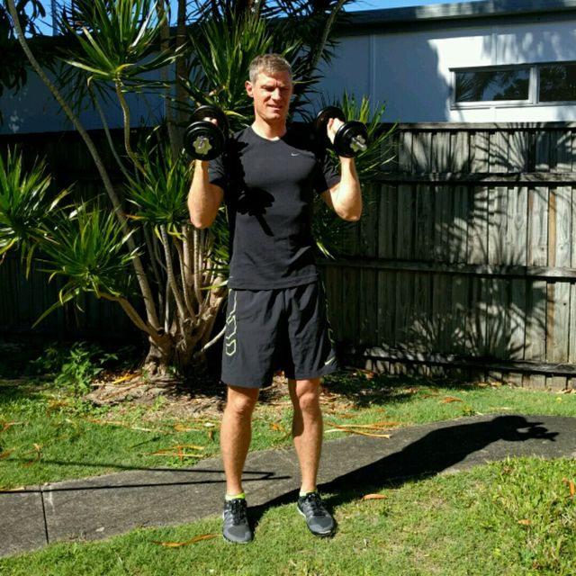 How to do: Squat Curl Press - Step 3