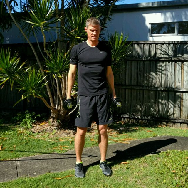 How to do: Squat Curl Press - Step 6